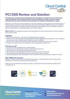CRIBB PCI DSS